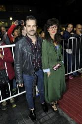 Felipe Colombo and Cecilia Coronado: press premiere