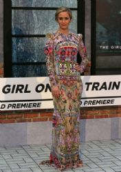 Emily Blunt in Alexander McQueen Dress : 'The Girl on the Train' - World Premiere