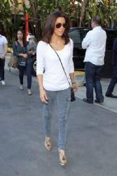 Eva Longoria Arrives at the Immortal World Tour by Cirque du Soleil Show