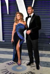 Jennifer Lopez and Alex Rodriguez: 2019 Vanity Fair Oscar Party Hosted By Radhika Jones - Arrivals
