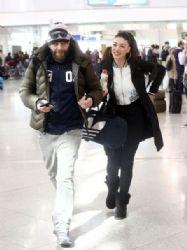 Ivi Adamou and Michalis Kouinelis: airport look
