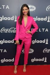 Victoria Justice attends the Inaugural GLAAD Rising Stars Luncheon at The Beverly Hilton Hotel