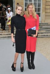 Theodora & Alexandra Richards at the Christian Dior Fall/Winter 2012 Show