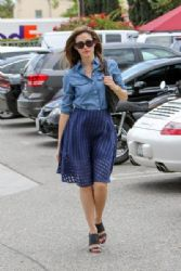 Emmy Rossum is seen out and about in Los Angeles