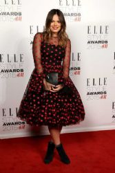 Atlanta De Cadenet wears Dolce & Gabbana - Elle Style Awards 2015