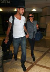 Eva Longoria And Her Boyfriend Eduardo Cruz Arrive At LAX