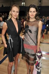 Isabeli Fontana wears Christian Dior - Dior Homme Spring 2015 front row