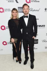 Aaron Paul and Lauren Parsekian: Elton John AIDS Foundation Oscars 2015 Viewing Party