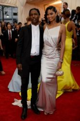 ASAP Rocky and Chanel Iman: Red Carpet Arrivals at the Met Gala 2014