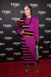 Rosario Dawson wears Fendi - Fendi Celebrates The Opening Of New York Flagship Store