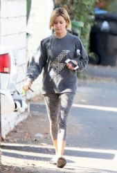 Ashley Tisdale: leaving the gym in Studio City