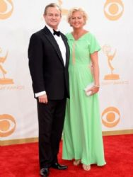 Hugh Bonneville and Lulu Evans: Primetime Emmy Awards 2013
