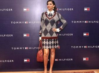 Sonam Kapoor wears Tommy Hilfiger - Tommy Hilfiger's Fall 2013 Collection Launch