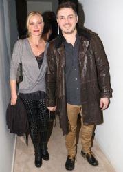 Michalis Hatzigiannis and Zeta Makrypoulia: night out