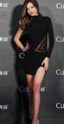 Miranda Kerr at her Clear Shampoo Commercial Activity Presentation