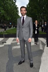 Chris Pine wears Giorgio Armani - Giorgio Armani 40th Anniversary Celebration