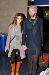Nikki Reed & Paul McDonald Arrive At LAX