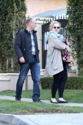 Adele: enjoyed a walk in Beverly Hills