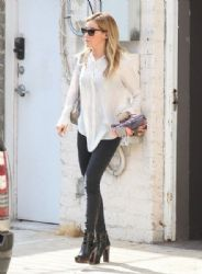 Ashley Tisdale is spotted leaving a hair salon