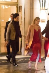 Lili Reinhart and Cole Sprouse: Leaving their hotel in Paris