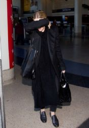 Ashley Olsen is seen arriving at LAX airport