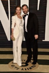 Leslie Mann and Judd Apatow: Elton John AIDS Foundation Oscars 2015 Viewing Party