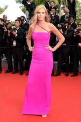 Lara Stone wears Calvin Klein - 'The Search' 2014 Cannes Film Festival Premiere