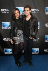 Paul Wesley and Torrey DeVitto: attend DIRECTV Super Saturday Night Featuring Special Guest Justin Timberlake & Co-Hosted By Mark Cuban's AXS TV