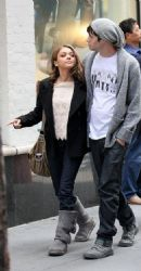Sarah Hyland and Matt Prokop: Stroll the streets of New York City