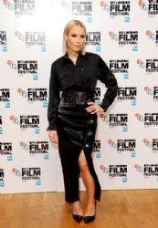 Noomi Rapace wears Anthony Vaccarello 'The Drop' 58th BFI London Film Festival Premiere
