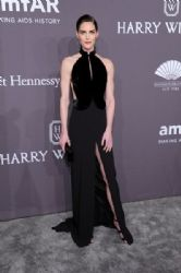 Hilary Rhoda wears Brandon Maxwell Dress : 19th Annual amfAR New York Gala