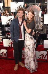 Sam Claflin and Laura Haddock: 2014 MTV Movie Awards - Arrivals