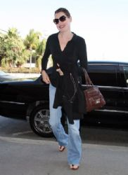 Geena Davis arrived at LAX Airport