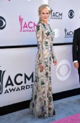 Nicole Kidman wears  Alexander McQueen Dress : 2017 ACM Awards