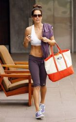 Brooke Burke: showed up at a fitness center in Malibu