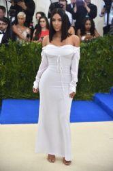 Kim Kardashian West  in Vivienne Westwood Dress :  2017 Met Gala