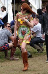 Florence Welch wears Dolce & Gabbana - Glastonbury Festival 2013