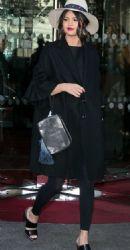 Selena Gomez leaving her hotel in Paris, France. September 28th, 2015