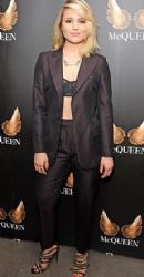 Dianna Agron: at a press night for the play McQueen (about late designer Alexander McQueen) in London