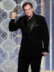 Quentin Tarantino: arrives at the 70th Annual Golden Globe Awards held at The Beverly Hilton Hotel