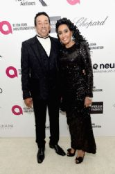 Smokey Robinson and Frances Robinson: Elton John AIDS Foundation Oscars 2015 Viewing Party