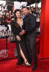 Roger Mathews and Jenni 'Jwoww' Farley: 2014 MTV Movie Awards - Arrivals