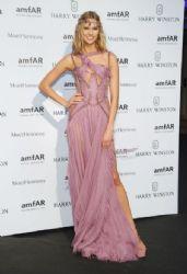 Karlie Kloss wears Versace - 2015 Amfar Paris