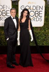 George Clooney and Amal Alamuddin: 72nd Annual Golden Globe Awards 2015- Arrivals