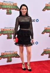 Lucy Liu: attends the premiere of DreamWorks Animation and Twentieth Century Fox's 'Kung Fu Panda 3' at TCL Chinese Theatre in Hollywood