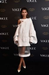 Zendaya attends the Vogue 95th Anniversary Party on October 3, 2015 in Paris, France