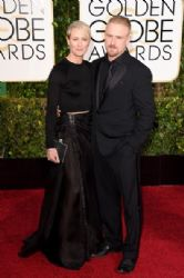 Robin Wright and Ben Foster: 72nd Annual Golden Globe Awards 2015- Arrivals