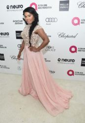 Lil Kim: Elton John AIDS Foundation Oscars 2015 Viewing Party