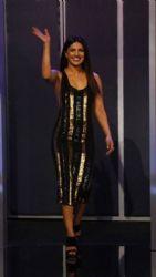 Priyanka Chopra  in Sally LaPointe  Dress : Jimmy Kimmel Live! in LA