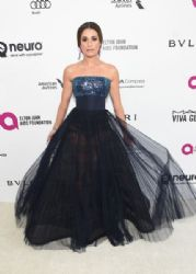 Lea Michele: 24th Annual Elton John AIDS Foundation's Oscar Viewing Party - Red Carpet